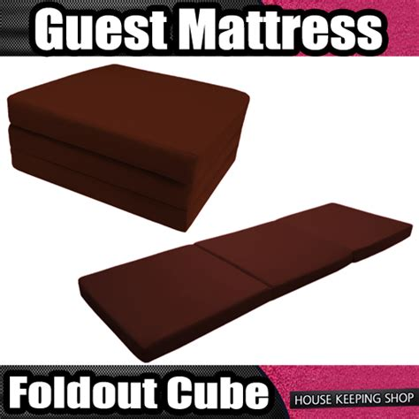 How To Get Wine Out Of Mattress by Wine Bed Comfort 3 Guest Mattress Fold Out Foam Cube Folding Z Cotton Ebay