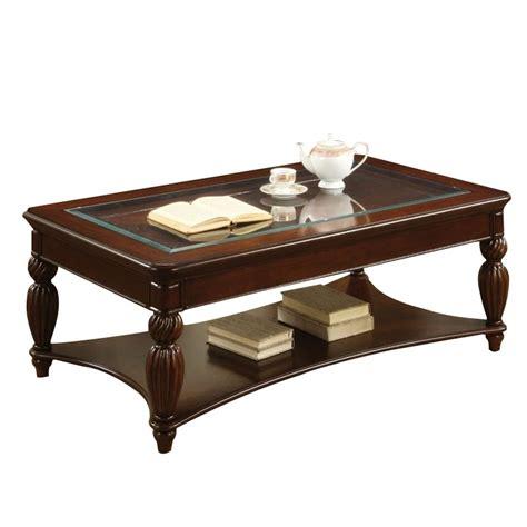 Cherry Coffee Table With Storage Furniture Of America Ittilic Shelf Storage Coffee Table In Cherry Idf 4390c