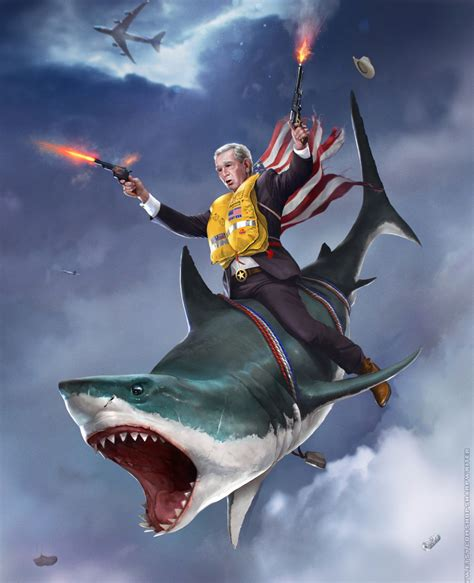 american sharks these badass presidential portraits are the most american