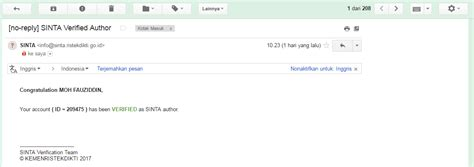Email Ristekdikti   cara mendaftar sinta ristekdikti blog mas uyes