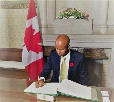 When Was The Appointed To The Cabinet by The Somali Born Canadian Mp Ahmed Hussen Has Been Sworn