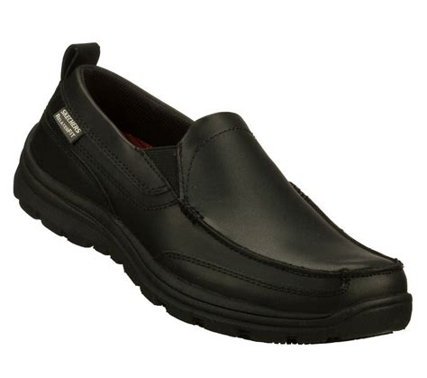 skechers hobbes slip resistant s shoes black 77005bol