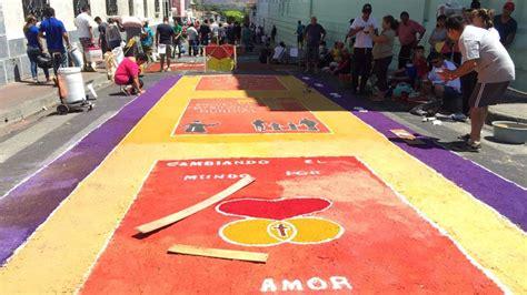 creatividad  fervor en alfombras de semana santa elsalvadorcom