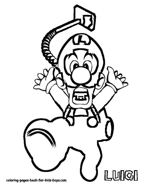 coloring pages for kids boys mario luigi3