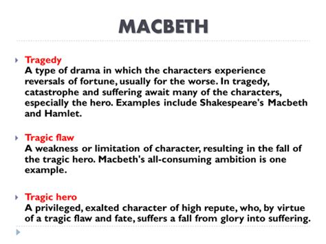 Shakespeare S Tragic In Macbeth by Ks3 Shakespeare Macbeth Definition Of Tragedy Tragic Flaw Tragic By Debzy87