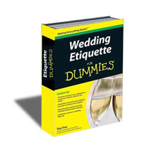 wedding ceremony for dummies book wedding etiquette for dummies wiley s inc
