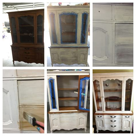 diy chalk painted china cabinet 9 best images about chalk paint on rocking