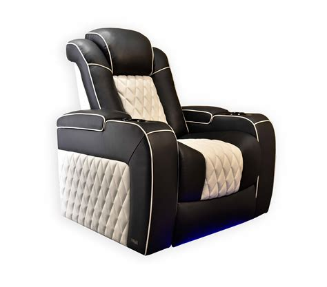 valencia tuscany motorized seating  white piping top