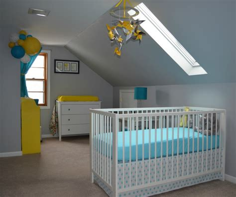 grey baby boy room baby boy s yellow grey and teal attic nursery project nursery