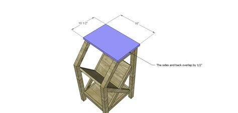 Magazine Rack Plans by Magazine Rack End Table Plans Woodworking Ideas