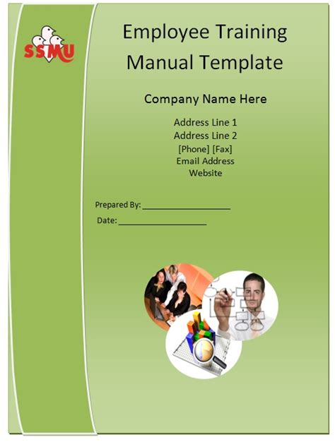 staff manual template employee handbook word template
