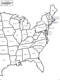 usa map east side east coast of the united states free map free blank map