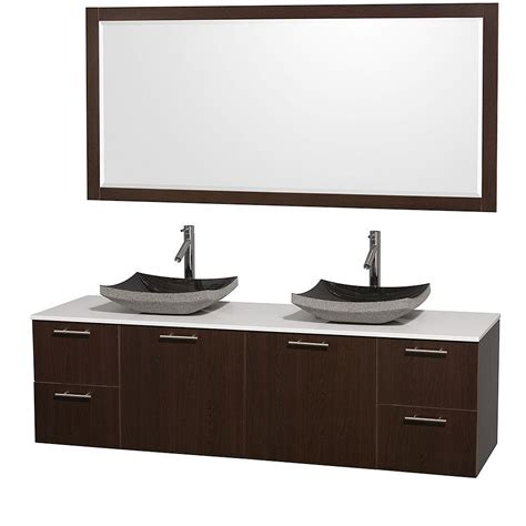 72 Granite Vanity Top by Wyndham Collection Amare 72 In Vanity In Espresso