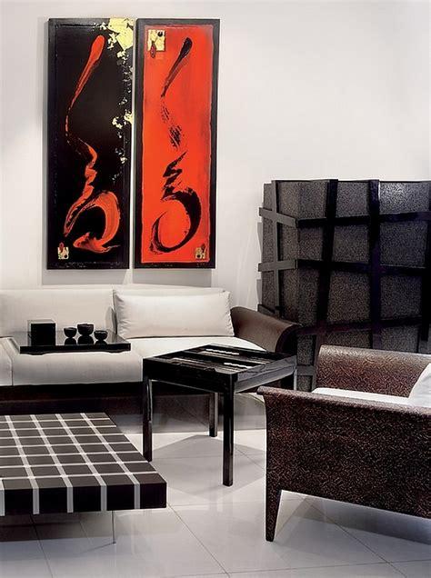wohnung schwarz weiß wohnzimmer in grau und rot