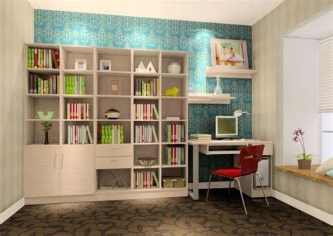 study room idea study room ideas with blue wallpaper 3d house
