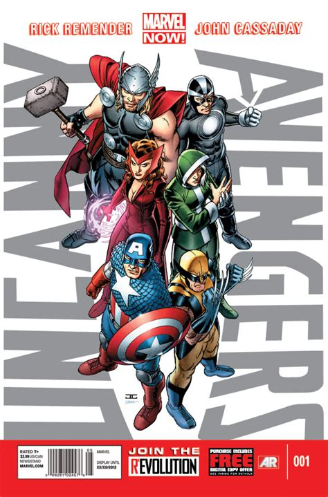 now 1 the new comics anthology look at the marvel now uncanny 1 cover