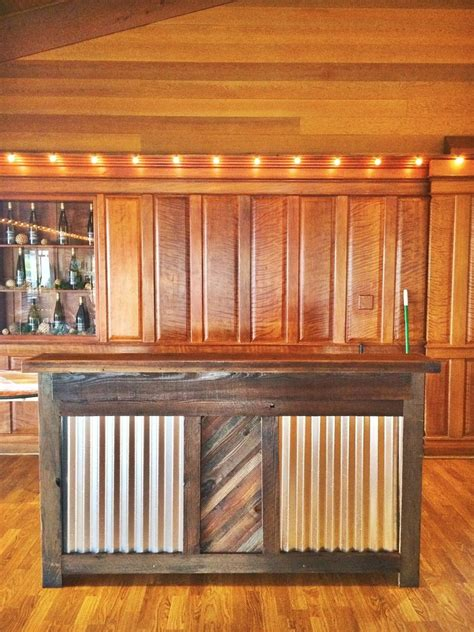 Rustic Bar custom made reclaimed wood rustic bar by mining company custommade