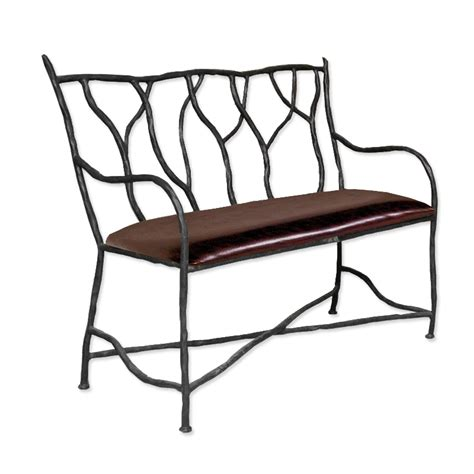wrought iron bench seat pictured is our south fork bench hand forged by artisan