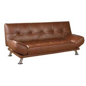 Leather Futon Sofa Ore International Leather Futon Sofa Bed By Oj Commerce