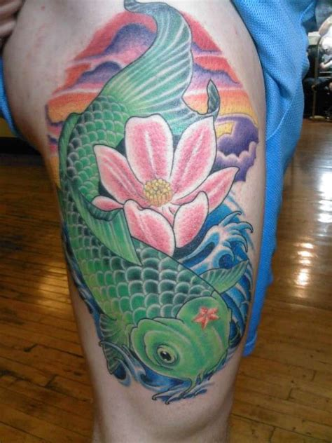 koi tattoo green girls delightful tattoos with meaning 3d
