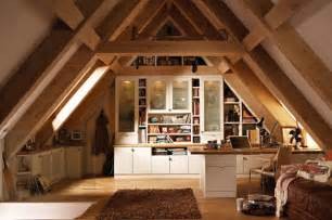 Attic Decorating an example for an attic office space