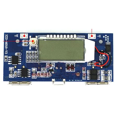 Diy Circuit Board 2 Usb Port Lcd Display 6 Section For Power Bank diy circuit board 2 usb port lcd display 6 section for