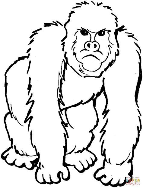 gorilla grodd coloring page boze gorilla kleurplaat gratis kleurplaten printen