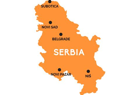 where is serbia on the map map of serbia railpass