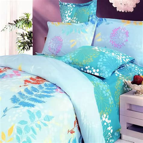 King Size Turquoise Comforter by Blancho Bedding Turquoise 100 Cotton 5pc