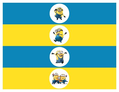 printable stickers minions minion water bottle labels free printable despicable me