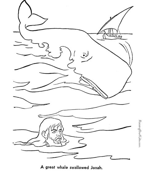 bible coloring pages jonah jonah and whale bible coloring page to print 044