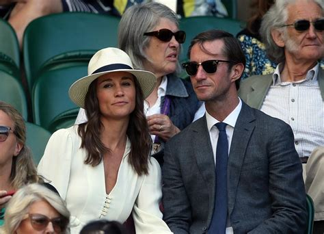 pippa middleton with her husband at wimbledon in london pippa middleton and hubby james put on loving display at