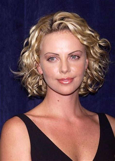 celebrity hairstyles curls the most awesome and also stunning charlize theron short