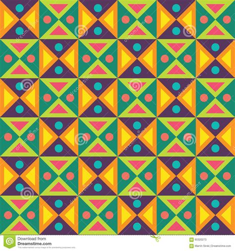seamless dots geometric pattern stock vector art 487524003 vector modern seamless colorful geometry triangles dots