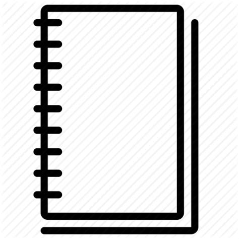 sketchbook icon diary journal notebook notepad sketchbook spiral