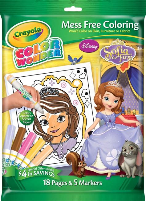 crayola giant coloring pages sofia the first amazon com crayola sofia the 1st color wonder overwrap