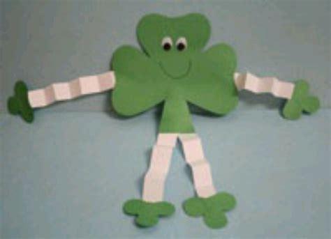 shamrock crafts for paper shamrock craft educational