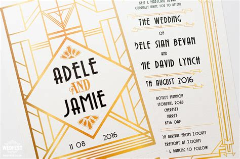 Wedding Invitations Gatsby by Gatsby Themed Wedding Wedfest