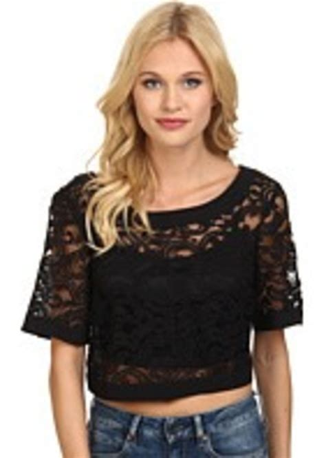 43813 Wide Neck Casual Top bcbg bcbgeneration wide neck crop top casual shirts