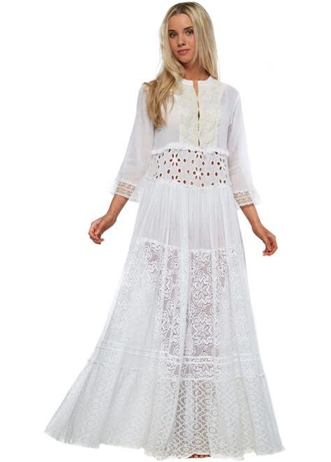 white lace boho maxi dress antica sartoria white lace cotton boho maxi dress