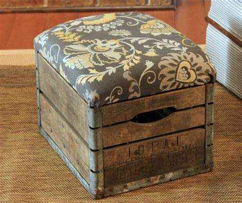 how to make an ottoman frame diy milk crate ottoman build crate seats for your home
