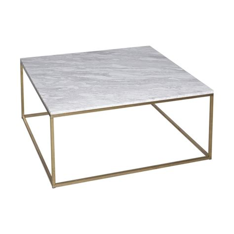 Metal Square Coffee Table Buy White Marble And Silver Metal Coffee Table From Fusion Living
