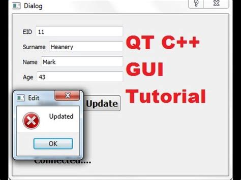 tutorial qt gui qt c gui tutorial 15 edit update a data from sqlite