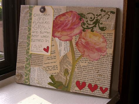 Decoupage Ideas On Canvas - altered canvas 183 how to make a collages 183 collage and