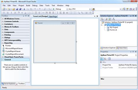 cara membuat power point dengan visual basic membuat project baru dengan vb 2008 pintar vb tutorial