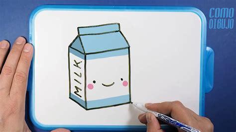 imagenes kawaii leche como dibujar caja de leche kawaii paso a paso how to