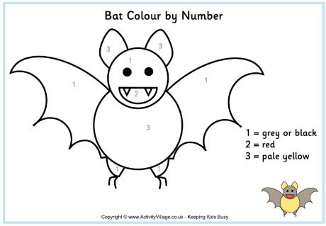 bat colour by number
