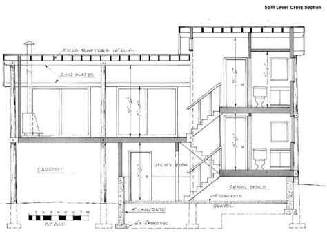 split level plans split level stairs 5 cross section split level house