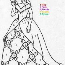 princess coloring pages by number swimming baby coloring pages hellokids