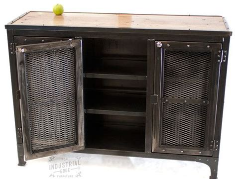 reclaimed wood steel custom industrial locking cabinet